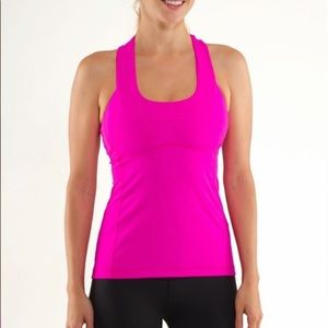 LULULEMON Scoop Neck Tank Fuchsia Size 10